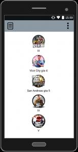 اسکرین شات برنامه رمزهای کامل جی تی ای 1