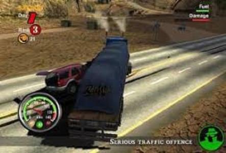 اسکرین شات بازی کامیون سواران در جاده 2