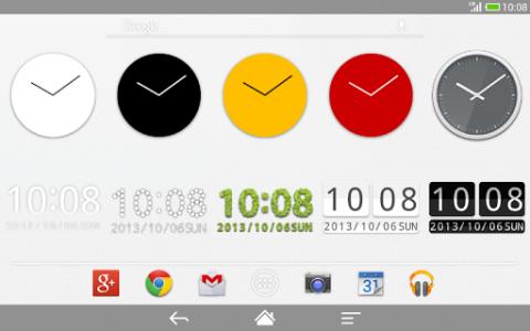 اسکرین شات برنامه Me Clock widget 2 - Analog & Digital 5