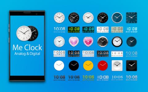 اسکرین شات برنامه Me Clock widget 2 - Analog & Digital 1