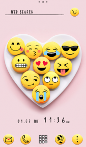 اسکرین شات برنامه Funny Wallpaper Emotional Macarons Theme 1