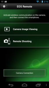 اسکرین شات برنامه EOS Remote 5