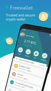 اسکرین شات برنامه Freewallet: Bitcoin & Crypto Blockchain Wallet 1