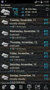 اسکرین شات برنامه Weather ACE 4