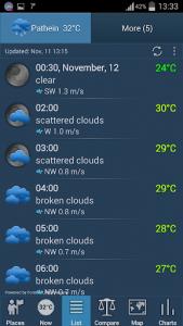 اسکرین شات برنامه Weather ACE 5