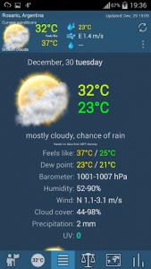 اسکرین شات برنامه Weather ACE 2