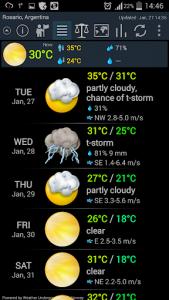 اسکرین شات برنامه Weather ACE 1