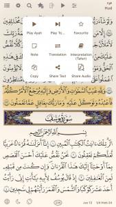 اسکرین شات برنامه قرآن هادی (انگلیسی) 3
