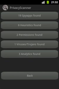 اسکرین شات برنامه Privacy Scanner (AntiSpy) Free 5