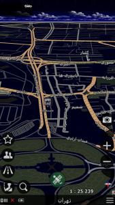 اسکرین شات برنامه نقشه و مسیریاب بانیبال 9