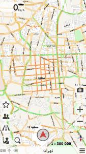 اسکرین شات برنامه نقشه و مسیریاب بانیبال 8