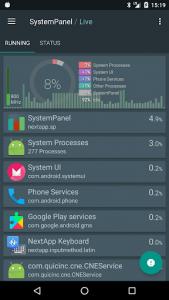 اسکرین شات برنامه SystemPanel 2 2