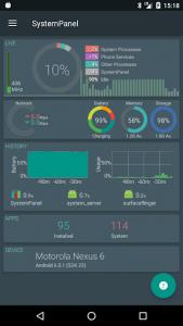 اسکرین شات برنامه SystemPanel 2 1