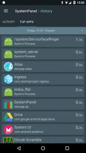 اسکرین شات برنامه SystemPanel 2 5