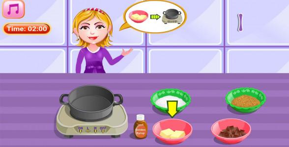 اسکرین شات بازی آشپزی پخت کیک شکلاتی 2
