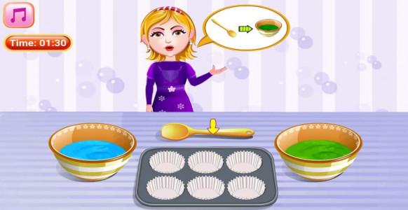 اسکرین شات بازی آشپزی پخت کاپ کیک 4