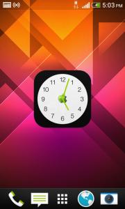 اسکرین شات برنامه ویجت ساعت اپل 1