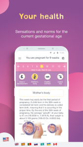 اسکرین شات برنامه Pregnancy Tracker: Baby Due Date Calculator 2
