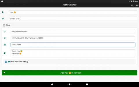 اسکرین شات برنامه اضافه کردن مخاطب جدید 6