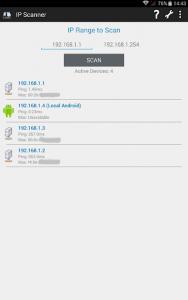 اسکرین شات برنامه IP Scanner 3
