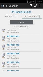 اسکرین شات برنامه IP Scanner 2