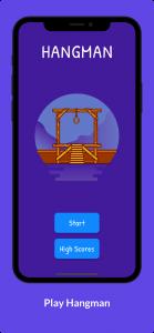 اسکرین شات بازی حدس کلمات انگلیسی Hangman 1