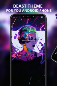 اسکرین شات برنامه Beautiful Music Girl Theme Galaxy M20 Launcher 1